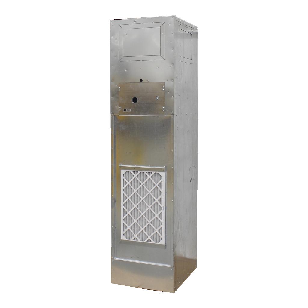 Unilux VHP Water-Source Vertical Heat Pump Unit - Left Angled